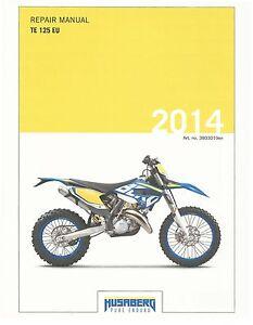 husaberg service manual 2014 te 125 eu ebay rh ebay com