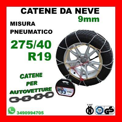 CATENE DA NEVE PER AUTO OMOLOGATE 9 MM MISURA PNEUMATICO 185//60 R14