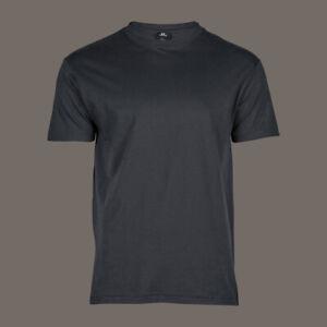 T-Shirt-blanko-grau-mit-Rundhalsausschnitt-100-Baumwolle-ohne-Aufdruck
