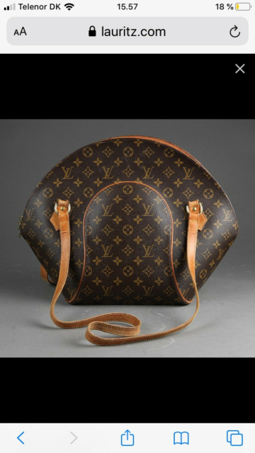 Skuldertaske, Louis Vuitton, kernelæder, Louis Vuitton.…
