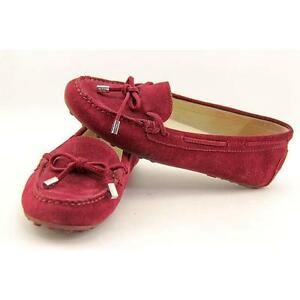 e99f9ccdbfd Michael Kors Daisy MOC Red Merlot Suede Leather Slip on Moccasin Loafer  Flat 5.5