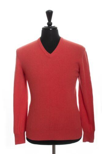 Gran Sasso Red Merino Ultrafine Cashmere V-Neck Sw