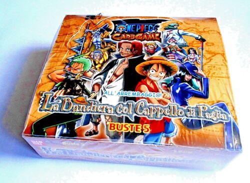 BANDAI BOX 30 BUSTE ONE PIECE CARD GAME LA BANDIERA COL CAPPELLO DI PAGLIA