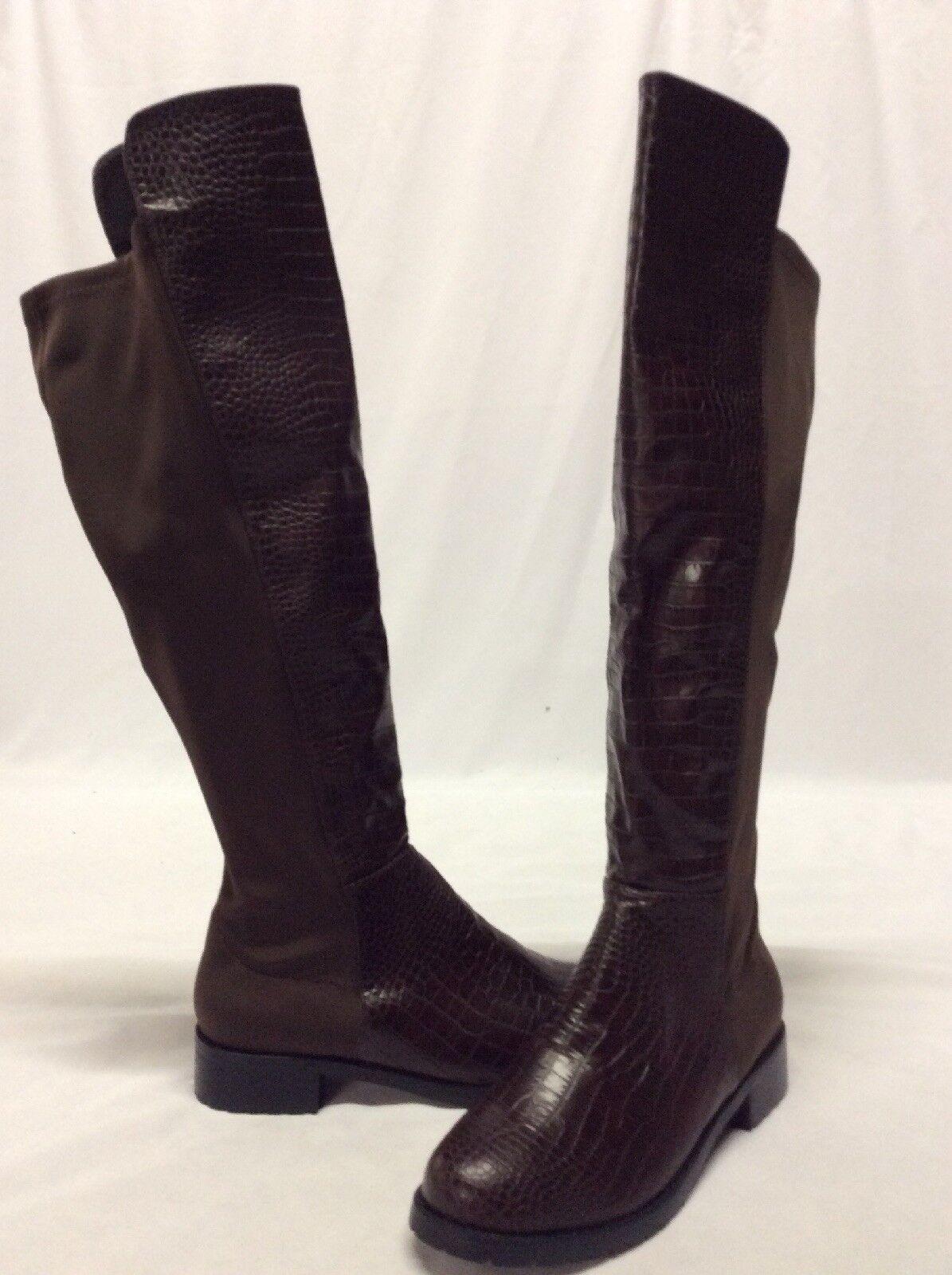 in vendita GC GC GC scarpe donna's Knee High Riding Style Fashion stivali, Marrone, Dimensione 10  molto popolare