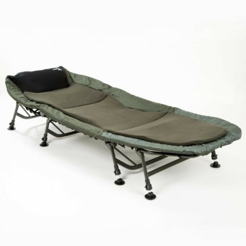 Mostal 8-Jambe Luxe carpes Couchage Bedchair Angler Couchage Angel Chaise Longue Chaise Lit de camp