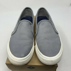 Sperry Slide-on Boat Shoes Gray Sz