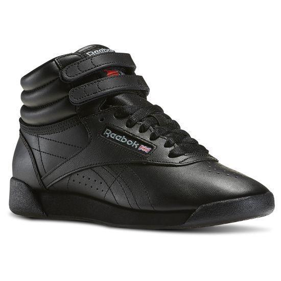 c0b6d8dd095d9 REEBOK 71 FREESTYLE HI Wmn's (M) Black Leather Hi-Top Lifestyle Shoes
