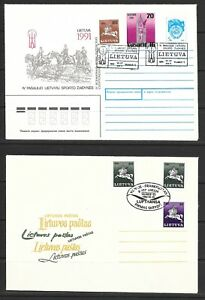 1991 to 1993 Lithuania 6 assorted covers