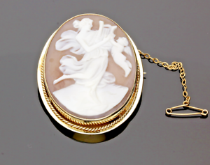 VINTAGE-9CT-YELLOW-GOLD-CAMEO-BROOCH-1968