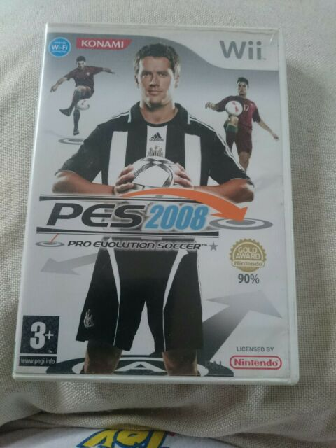 Pro Evolution Soccer 2008 Nintendo Wii PES Konami Football Soccer Game-Pal UK