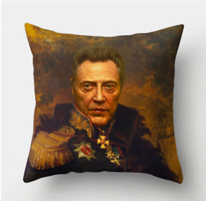 CHRISTOPHER-WALKEN-PAINTING-Cushion-Cover-Retro-Classical-Art-Vintage-45cm-Gift