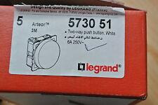 legrand DESIGNER Arteor 5730 51 Push Button Circular Module 6A White