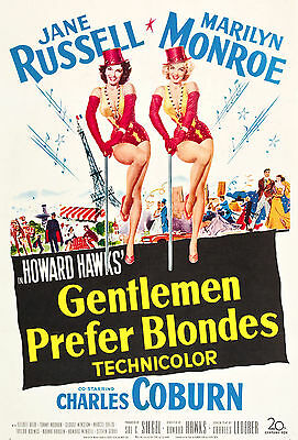 """Gentlemen Prefer Blondes"" .Marilyn Monroe Classic Movie Poster A1 A2 A3 A4Sizes"