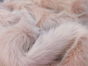 Faux fur Fabric - Blush 60mm Pile - Mohair bears - Artist Bear - OOAK - Fur Coat