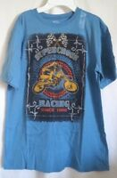 Boys Xl 14 Blue Motorcycle Supercross Offroad Shirt The Children's Place