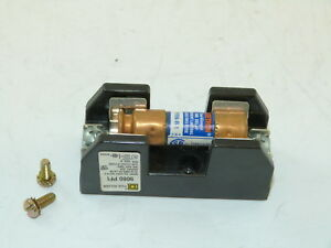 Square D 9080 PF1 250v 30a Fuse Holder With FRN-R 1 Fuse Surplus