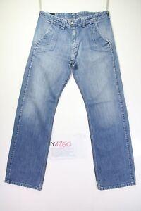 Lee-Whizit-Jadear-Cod-Y1260-tg47-W33-L34-vaqueros-talle-alto-usado-vintage