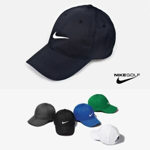 56b787bd Nike Golf SWOOSH Front Logo Cap Hat DRI-FIT Adjustable 548533 Black ...