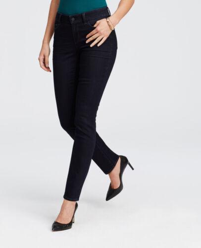 Size 0 Damsel Blue Dark Wash CURVY Skinny Jeans 89.00 84 Ann Taylor