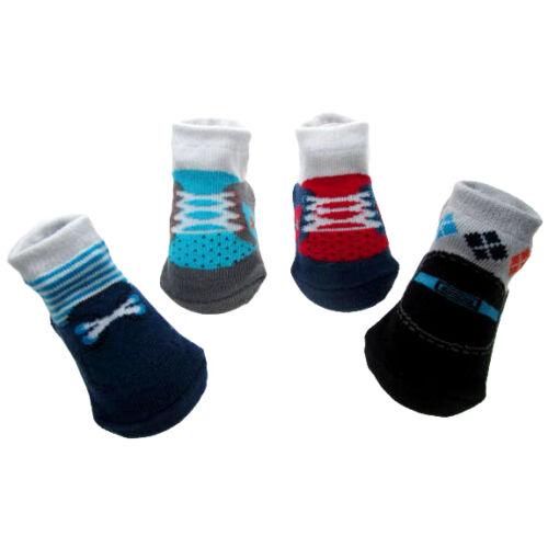 Chicos Paquete De 4 Algodón ricos Con Encaje Estilo calcetines por tacto suave Edad 0-6 Meses