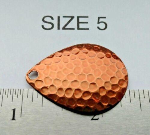 10 size 1 thru 6 CANDY ORANGE powder coat colorado hammered SPINNER BLADES Erie