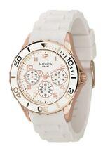 Uhr , Damenuhr, MADISON New York , Chrono-Optik ,roségoldfarbenes Metallgehäuse