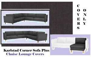 Details about IKEA Karlstad Sivik Dark Gray Corner Sofa/Chaise Lounge  Cover\