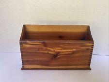 Vintage Natural Wood Office Desk Pen Organizer Holder Rustic 75 Wide 5 Long