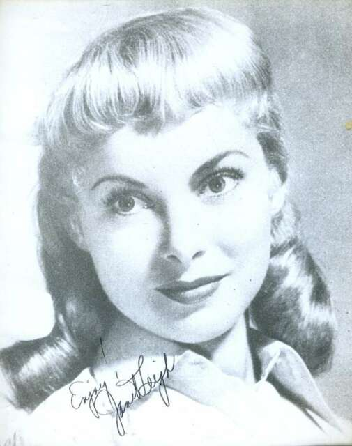 JANET LEIGH PSA/DNA COA SIGNED 8X10 PHOTO AUTHENTICATED AUTOGRAPH