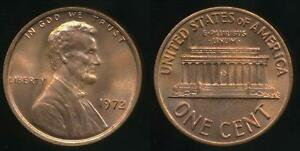 United-States-1972-One-Cent-1c-Lincoln-Memorial-Uncirculated
