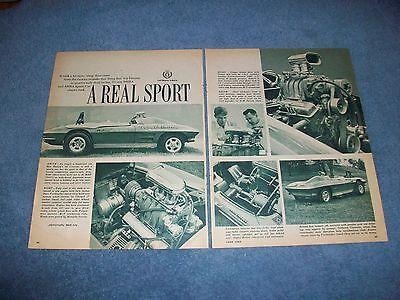 1963 Corvette Roadster Vintage Drag Artikel A Real Sport Die Neueste Mode