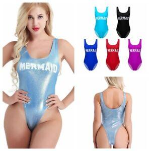 c56269041eb9e Womens One Piece Shoulder Straps U Neck Backness Swimsuits Monikini ...