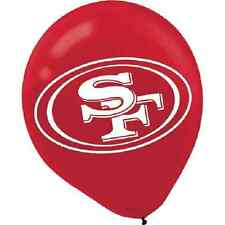 Item 2 San Francisco 49ers NFL Football Sports Banquet Party Decoration Latex Balloons