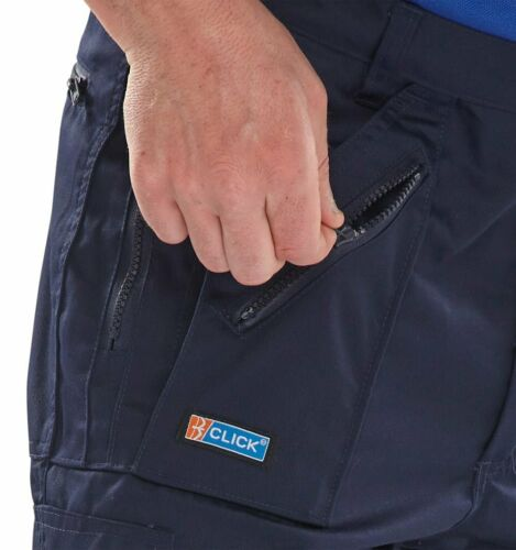 B-Click Workwear Navy Action Work Trousers Various Sizes
