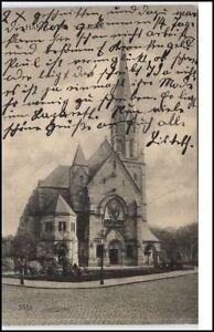 Hannover-Niedersachsen-AK-1915-Strassen-Partie-an-der-Markuskirche-Kirche-Church