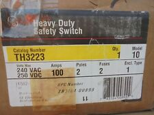 Ge Th3223 Model 10 100 Amp 240 Volt 2p3w Fusible Disconnect New B