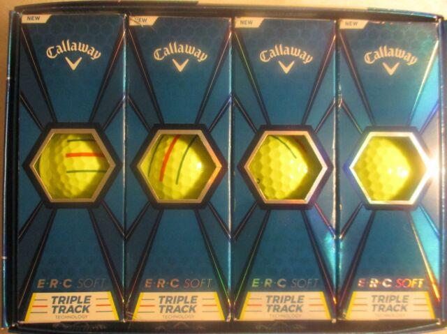 one dozen Callaway Golf ERC Soft feel Triple Track 12 yellow Golf Balls New