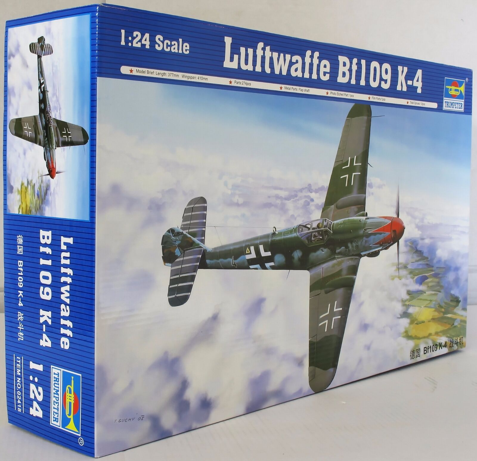 Trumpeter 1 24 02418 Me Bf 109K-4 Model Aircraft Kit