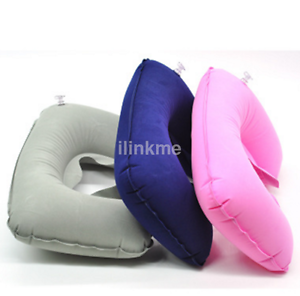 Inflatable Travel Pillow Air Cushion Neck Rest U-Shaped Compact Plane Flight US