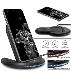 For Samsung Galaxy S21/Note 20 Ultra/10+/S20 FE Case,Wireless Fast Charger Stand