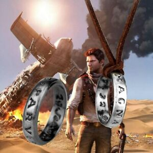 Uncharted-4-Nathan-Drake-039-s-Vintage-Band-Ring-Leather-Code-Pendant-Necklace