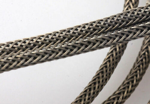 #22 AWG Cloth 7-Strand Copper Hook-Up Wire 2 Strand BRAIDED METAL SHIELD