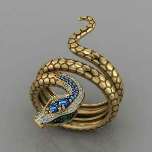 Ring-Snake-Jewelry-Punk-Fashion-Women-Gothic-Vintage-Rings-Finger-Men-Size-6-10