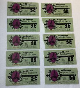 600ms-Lote-De-Diez-Walt-Disney-Disneyworld-Magia-Clave-Billetes-Verde-2x4-5