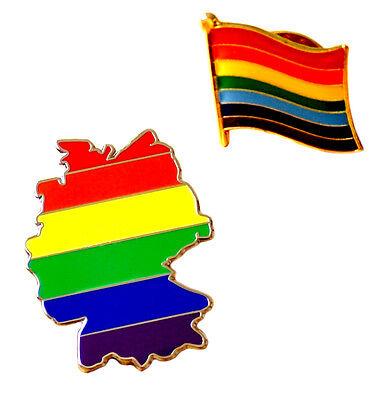 Anstecker Regenbogenfahne/Regenbogen-Flagge mit Butterfly Clip 1,5cm x1,5cm CSD