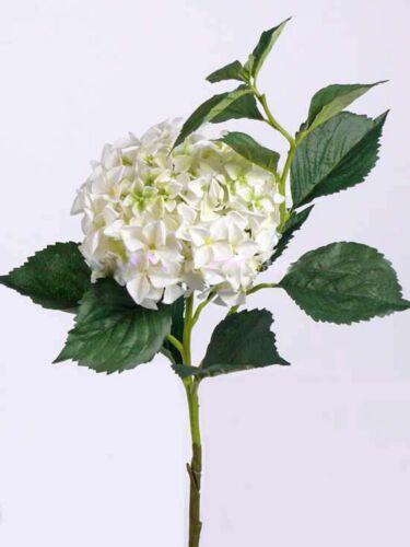 Artplants Artificial Hydrangea Lelia Ø25cm-Art Flower 105cm White-Green