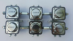 Accumax Heavy Duty solenoids set of 6 w/coupling nuts low rider 10A-F1025