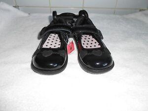 M\u0026S Girls INFANT Black Leather Patent