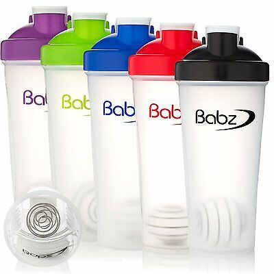 3 Assorted Colours 700ml Protein Mix Ball Mixer Shaker Bottle Cup Supplied in 3