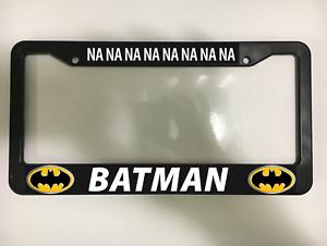 Batman Chrome Plastic License Plate Frame DC